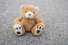 Brown teddy bear isolated. A cute brown teddy bear isolated Royalty Free Stock Photography