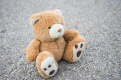 Brown teddy bear isolated Royalty Free Stock Images
