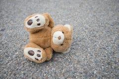 Brown teddy bear isolated. A cute brown teddy bear isolated Stock Photography