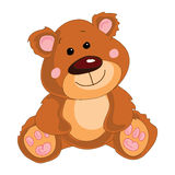 Brown teddy bear on a white background. Stock Image