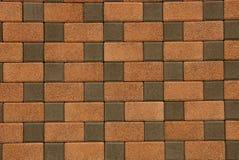 Brown tekstura kamienna brukowa cegiełka na drodze Obraz Stock