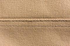 Brown tekstury brezentowy tło Obraz Royalty Free