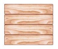 Brown tekstury Drewniany tło na Białym tle Obrazy Stock