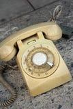 Brown telefonu rocznika stary styl na podłoga Obrazy Royalty Free