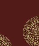 Indian ornament template Royalty Free Stock Photos