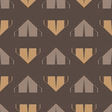 Brown tent seamless pattern royalty free stock photos