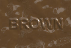 Brown (Text serie) Royalty Free Stock Image