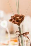 Brown-Textilblume Lizenzfreie Stockfotos