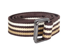 Brown textile female belt isolated. On white Royalty Free Stock Photography