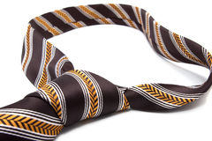 Brown textile necktie Royalty Free Stock Photography
