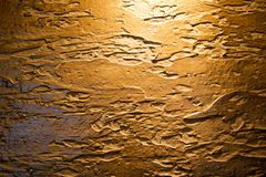 The brown texture of the concrete wall is made of decorative plaster with stains, smudges and shade. The background Stock Photography