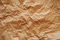 Brown texture of crumpled paper Royalty Free Stock Photos