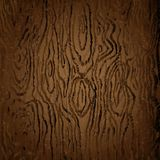 Brown Texture of Dark Wood Vector Image royalty free illustration