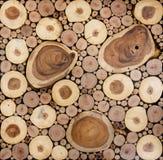 Texture pattern of round teak wood stump circle background Royalty Free Stock Images