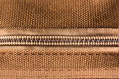 Brown texture with zipper Royalty Free Stock Photo