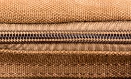 Brown texture with zipper Royalty Free Stock Photos