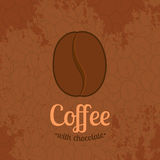 Brown Textured Background with Coffee Beans Royalty Free Stock Photo