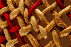 Brown Textured Braided Vimini Background Stock Photo