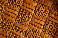 Brown Textured Braided Vimini Background Stock Images