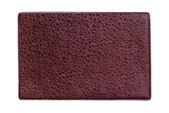 Brown textured leather background Stock Image