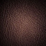 Brown textured leather grunge background closeup Royalty Free Stock Photos
