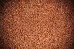 Brown textured leather skin grunge background closeup Stock Photography