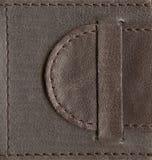 Brown textured o fechamento de couro Fotografia de Stock