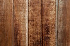Brown textured siding panel of old wooden boards royalty free stock image