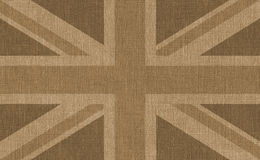 Brown textured UK flag Royalty Free Stock Photo
