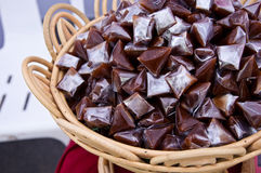 Brown Thai Sticky Dessert Stock Images