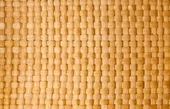 Brown Thai wooden wicker pattern close up Stock Images