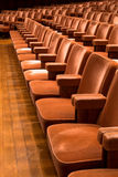 Brown theater seats. Rows of brown theater seats in a concert hall Stock Images