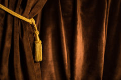 Brown theatre curtain Royalty Free Stock Photo