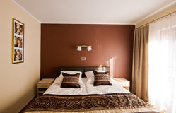 Brown theme bedroom Royalty Free Stock Photos