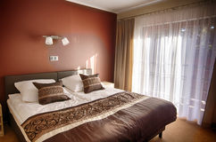 Brown theme bedroom Royalty Free Stock Photo