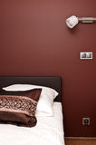Brown theme bedroom Stock Images