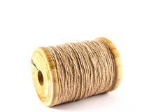 Brown thread spool isolated Stock Photography
