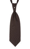 Brown tie with a perle Royalty Free Stock Photography