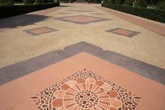 Brown tile floor pattern Stock Image