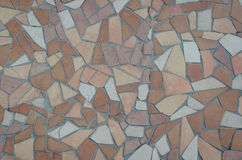 Brown tile mosaic texture Royalty Free Stock Photo