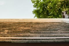 Brown tile roof and beautiful sunny sky. royalty free stock image