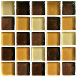 Brown tiled mosaic Stock Image
