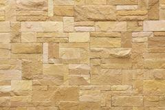 Brown tiled stone wall Stock Photography