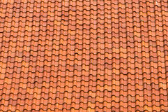 Brown tiles on roof. Brown tiles on Thai temple roof Royalty Free Stock Photo