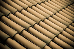 Brown tiles roof texture architecture background Royalty Free Stock Images