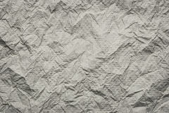 Brown Tissue surface of wrinkled or Crumpled. Royalty Free Stock Photos