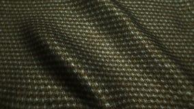 Brown tkaniny cajgów wysokiej jakości tekstura, rusza się fala, Bezszwowa pętla zdjęcie wideo