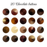 Brown Tone Color Shade Background, échantillons de gradient de chocolat Illustration Libre de Droits