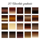 Brown Tone Color Shade Background, échantillons de gradient de chocolat Photos stock