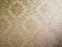 Brown tone Damask style wallpaper Stock Photography